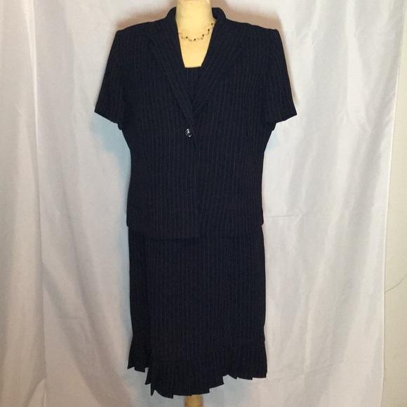 Danny Nicole Dresses Womens Navy Blue 2 Piece Dress Suit Size 16